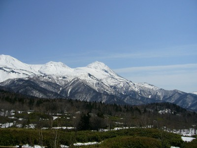 雪の羅臼岳