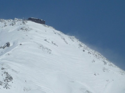 雄山山頂付近の山小屋