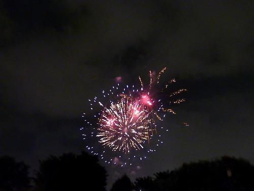 天神祭の花火