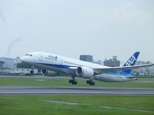 2011年7月5日に伊丹空港に飛来した機体