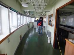 操舵室下階の練習部屋