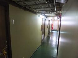宿泊部屋の通路