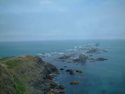襟裳岬の先端の岩礁風景