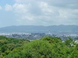 舞台から京都市内を一望