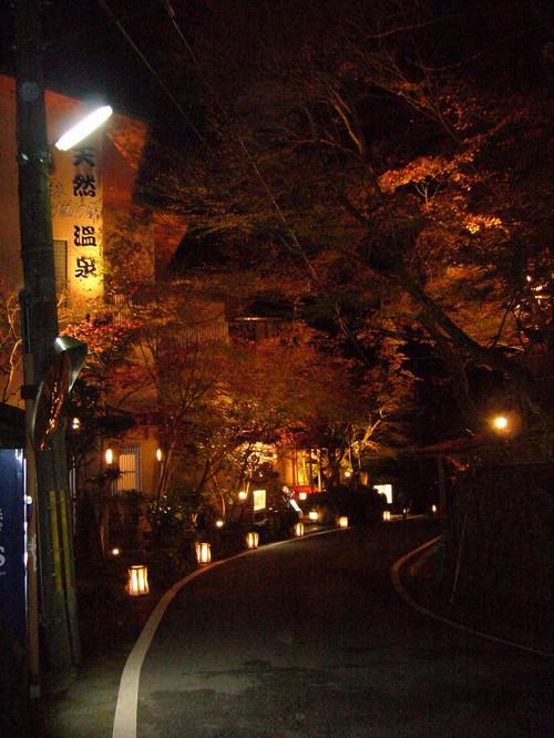 貴船神社付近のライトアップ