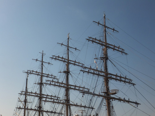 帆船日本丸。登檣礼