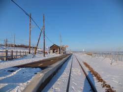 単線の線路 網走方面