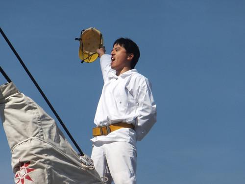 大阪港に寄港の海王丸